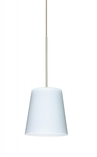 Besa Lighting 1XT-513107-LED-SN 1X6W Led Lightsource Canto 5 Pendant with Opal Matte Glass, Satin Nickel Finish