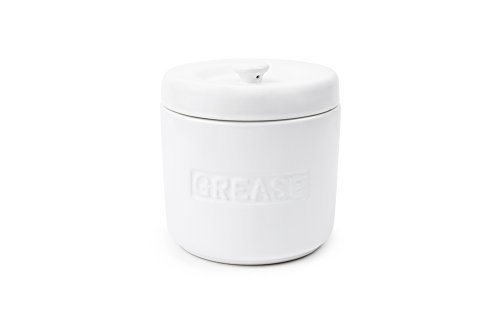 Fox Run 6238 Porcelain Grease Container, White