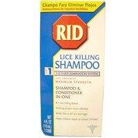 RID lice killing shampoo with conditioner - 4 oz (Pubic Lice)