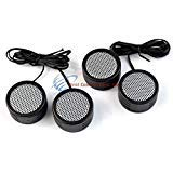 (2 PACK DEAL Audiopipe 500w High Frequency Car Truck Boat Stereo Tweeters Built-in Crossover)