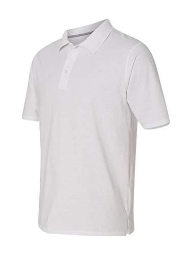- Hanes Men's X-Temp Performance Polo, White, Medium
