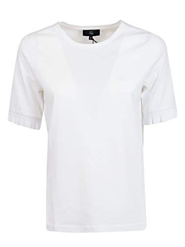 shirt Npw2386100qqab001 Blanc Femme T Coton Fay WIED9H2
