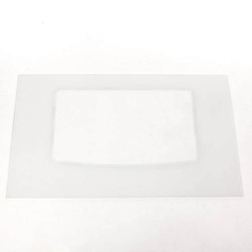 316202818 Range Oven Door Outer Glass (White) Genuine Original Equipment Manufacturer (OEM) Part White ()
