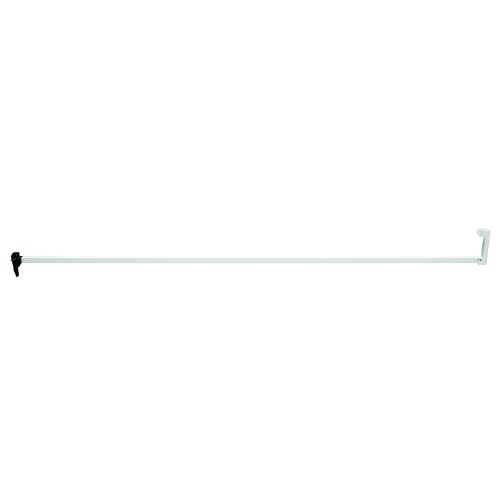 Defender Security S 4220 Sliding Door Security Bar Lock, 48-Inch, Extruded Aluminum, white, Pack of 1