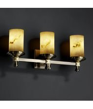 Justice Design Group FAL-8533-10-DBRZ Deco 3 Light Bathroom Bar Fixture from the LumenAria ()