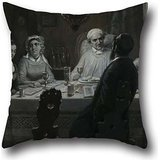 - Oil Painting Moritz Daniel Oppenheim - Seder (The Passover Meal) (Der Oster-Abend) Pillow Covers 18 X 18 Inches / 45 By 45 Cm For Office,gf,teens,kids Boys,bedroom,home Theater With Both Sides