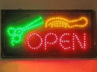 UbiGear 10 * 19 inch Animated Motion LED Business Barber Shop Open Sign On off switch Bright Light Neon