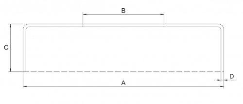 Bohrung /ø 34mm Wandst/ärke 1mm Abdeckrosette 85 x 15mm