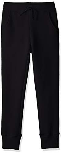 Amazon Essentials Big Girls' Fleece Jogger, Black, Large (Sweatpants Kids Black)