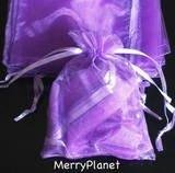 100 Purple Organza Wedding Favour Bags Jewellery Pouches 9cm x 12cm without free gifts Joydiy