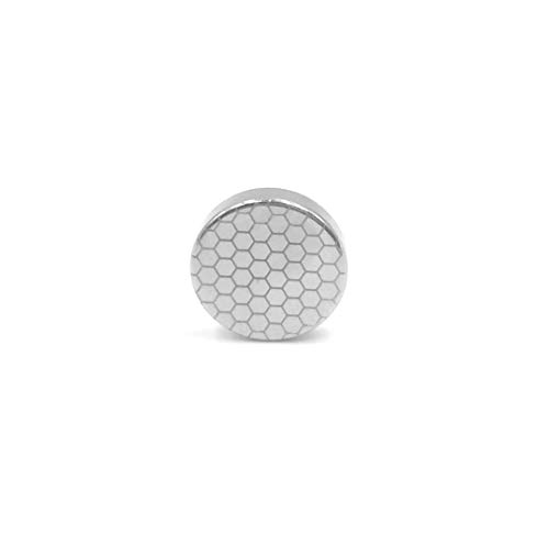 Fleur Button Front Shirt - Tie Mags Men's Hex, Silver, Magnetic Tie Clip