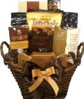 Delight Expressions® Chocolate and Coffee Lovers Gourmet Food Gift Basket - A Mother's Day Gift Idea!