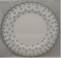 (Spode Spode Fleur De Lys-Grey (Bone,Platinum Trim) Salad Plate (Imperfect))