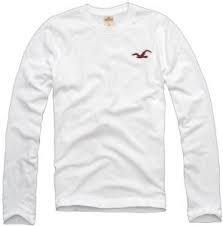 Hollister Men S Long Sleeve T Shirt White Uk Size X Large Amazon Co