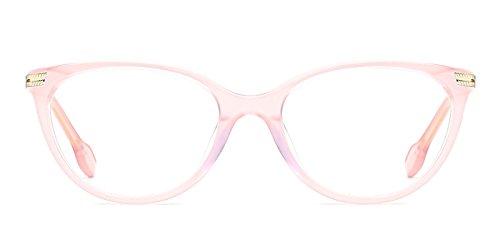 Acetate Borders (TIJN Urban Acetate Cat Eye Feminine Look Non-prescription Eyeglasses (F, 52))
