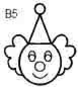 Clown Snazaroo Burpo Rubber Stamp for Face Painting