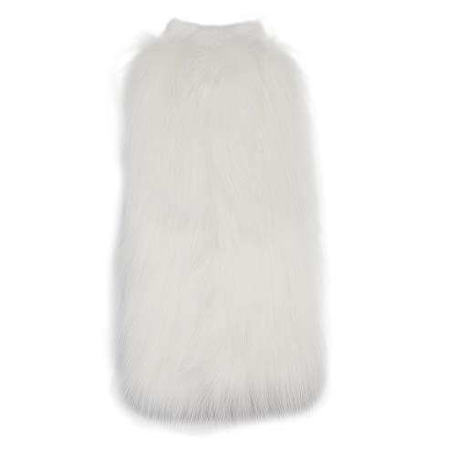 Women WARM SOFT COZY FUZZY Faux Fur Leg Warmer Boot Cuff Cover Costume Accessory (Fur Sleeve Faux Boot)