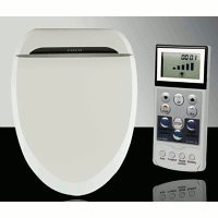 toilet with heated seat and bidet Coco Bidet 6035R Elongated Electronic Toilet Seat Remote Control  toilet with heated seat and bidet