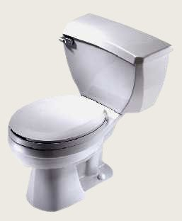 "Gerber 21-317 Ultra Flush ADA Elongated Two Piece Pressure Assist Toilet with 10"" Rough - White"