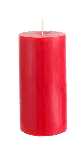 Mega Candles Unscented Red Round Pillar Candle | Hand Poured Premium Wax Candles 3