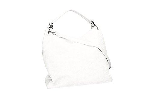 Borsa donna a spalla PIERRE CARDIN bianco apertura zip con tracolla VN1558