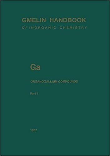 Ga Organogallium Compounds: Part 1