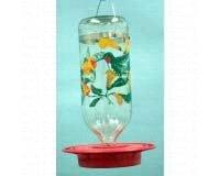 Squirrel Flowers Proof (Original Best-1 Flowers Hummingbird Feeder 32 Ounce Glass Bottle, Plastic Base)