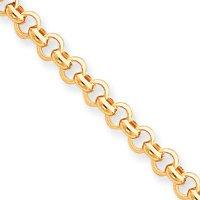 14 carats 6,25 mm 8,5 pouces Bracelet poli de Fancy collier-Fermoirs-Mousquetons JewelryWeb