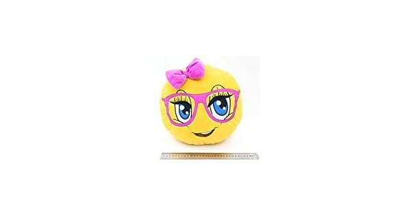 Amazon.com: Cute Girl con anteojos de color rosa almohada ...
