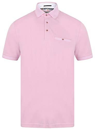 Ted Baker Frog Short Sleeve Polo Shirt in Pink Small