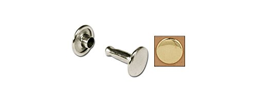 (Tandy Leather Double Cap Rivets Large Brass Plate 100/pk 1375-11)