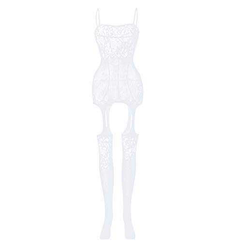 COCO BLVD Lingerie Bodystockings Women Stretch Fishnet Clothes Underwear Babydoll Bodysuits