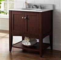 "Fairmont Designs 1513-VH30 Shaker Americana 30"" Open Shelf Vanity - Habana Cherry"