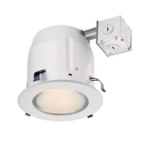 Commercial Electric 5 in. Recessed White Shower Kit (White Shower Electric)