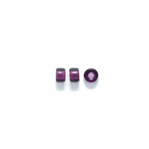 Preciosa Ornela Traditional Czech Glass Crow Roller 150-Piece Beads, 6mm, Transparent Deep Amethyst