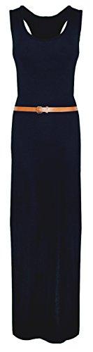 Damen Maxi Azteken Fashion Fast Tierleoparddruckscher Boobtube Kleid Marine Tribal gq5ZOwE