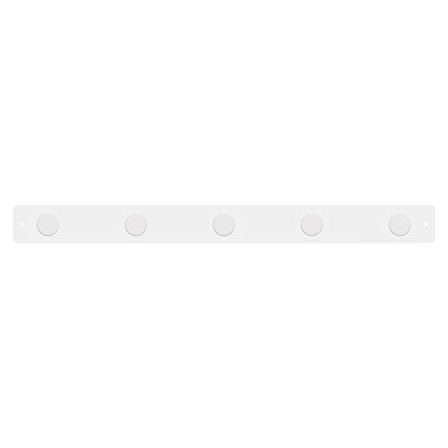 Magnetic Strip Bulletin Board White w/ 5 Large White Magnets