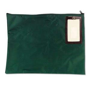 MMF Industries Cash Transit Nylon Sack, 18 x 14, Dk Green, Each (2 Units) by MMF