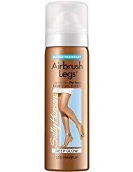 (Sally Hansen Airbrush Legs Spray Leg Instant Tan Makeup ~ Deep Glow ~ Travel Size 1.5oz (Quantity 1))