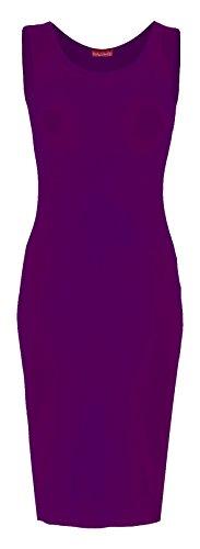 Body2Body Damen Schlauch Kleid Violett 1ldaslXn