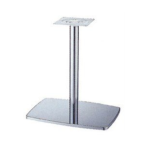 e-kanamono テーブル脚 イオンS7600 ベース600x420 パイプ60.5φ 受座240x240 クロームメッキ AJ付 高さ700mmまで B012CCC39Y