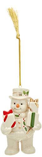 Lenox 2018 Gifts Galore Snowman Ornament]()