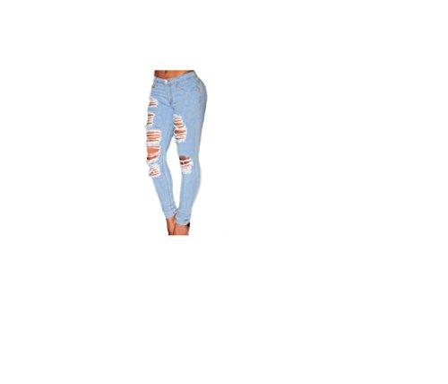 Zerstörte dünne Denim-Jeans