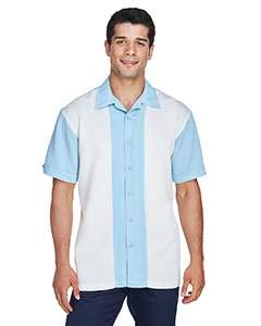 Harriton Men's Two-Tone Bahama Cord Camp Shirt M Cloud -