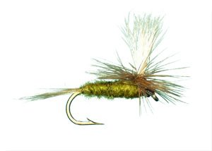 Blue Wing Olive (Parachute Blue Wing Olive Fly Fishing Fly - Size 14 - 12 Pack )