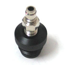 Paintball ASA to Remote Adaptor with male Q/D NEW X2 FREE SHIPPING by BOZO Paintball