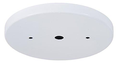 B&P Lamp 5 1/4 Inch Modern Shallow Steel Canopy Kit (White)