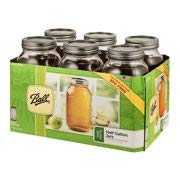 Ball JARDEN Home Brands 68100 6Pack 1/2Gallon Wide Mouth Jar