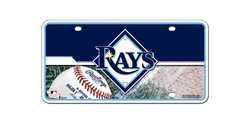 Tampa Rays Devil Car Bay (MLB Tampa Bay Rays Metal Auto Tag)
