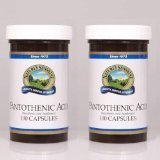 PANTOTHENIC ACID 250 mg, KOSHER (Pack of 2) 100 Capsules each FAST SHIPPING by Nature's Sunshine